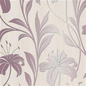 Walls Republic Pink Floral Non-Woven Paste The Wall Faded Metallic Wallpaper