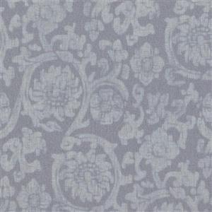 Walls Republic Light Blue Wash Damask Non-Woven Paste The Wall Traditional Orbital Damask Wallpaper