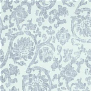 Walls Republic White And Blue Damask Non-Woven Paste The Wall Traditional Orbital Damask Wallpaper