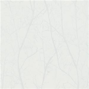 Walls Republic Cream/Pearl Contemporary Winter Tree Wallpaper