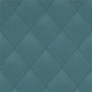 Walls Republic Teal Modern Padded Textile Non-Woven Unpasted Wallpaper