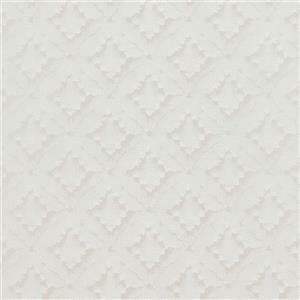 Walls Republic White/Beige Geometric Non-Woven Paste The Wall Geometric Diamond Textured Wallpaper
