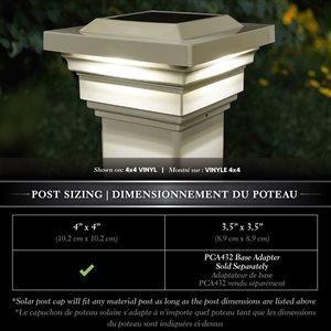 Classy Caps Regal Solar PVC Tan 4-in x 4-in Post Cap