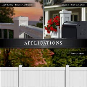 Classy Caps Pyramid Solar PVC White 4-in x 4-in Post Cap