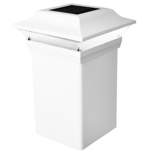 Classy Caps Imperial White Aluminum 5-in x 5-in Post Cap