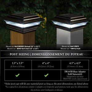 Classy Caps Imperial Black Aluminum 4-in x 4-in Solar Post Cap