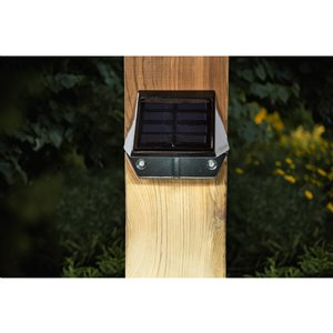 Classy Caps Black Aluminum Solar Deck and Wall Light