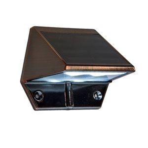 Classy Caps Copper Plated Aluminum Solar Deck and Wall Light