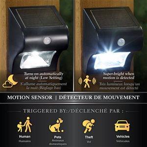 Classy Caps Solar Motion Sensor Deck and Wall Security Light