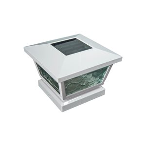 Classy Caps FS100 Fairmont White Solar Post Cap