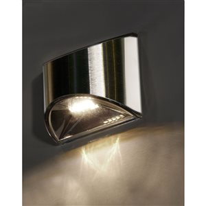 Classy Caps Stainless Steel Solar Deck and Wall Light
