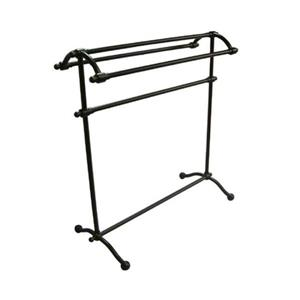 Elements of Design Vintage Dark Bronze Freestanding Towel Rack