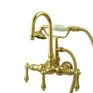 Elements of Design Vintage Brass Wall Mount Bathtub Faucet
