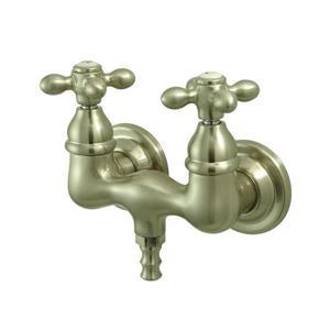 Elements of Design Vintage Nickel Wall Mount Bathtub Faucet