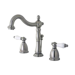 Elements of Design New Orleans Satin Nickel 2-Handle Widespread Deck Mount Bathroom Sink