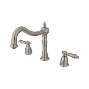 Elements of Design Satin Nickel Deck Mount Bathtub Faucet