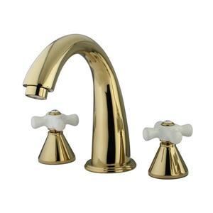 Elements of Design Brass Deck Mount Bathtub Faucet