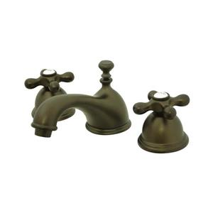 Elements of Design Chicago Oil-Rubbed Bronze Metal Cross Handle Widespread Bathroom Sink Faucet