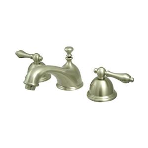 Elements of Design Chicago Satin Nickel Metal Lever Handle Widespread Bathroom Sink Faucet