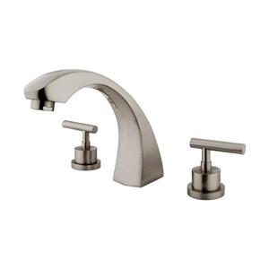 Elements of Design Manhattan Nickel Deck Mount Bathtub Faucet