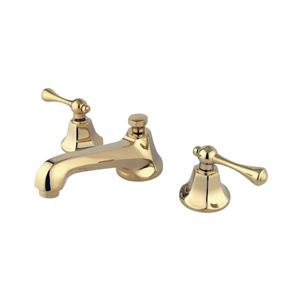 Elements of Design New York Polished Brass Buckingham metal lever handle Widespread Bathroom Sink Faucet