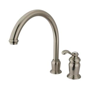 Elements of Design Templeton Satin Nickel 12-in 1-Handle Deck Mount High-Arc Kitchen Faucet