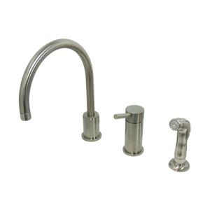 Concord Widespread Single Handle Kitchen Faucet with Sprayer