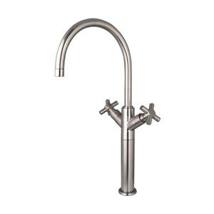 Elements of Design Concord Satin Nickel Twin Lever Handles Vessel Sink Faucet