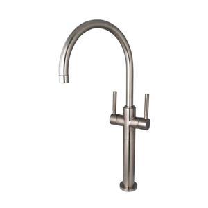 Elements of Design Concord Satin Nickel Twin Lever Handles Vessel Sink Faucet