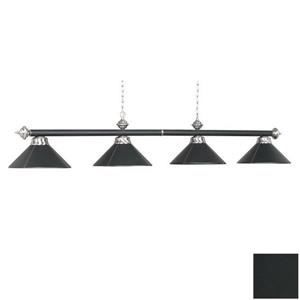 RAM Game Room Products 4-Light Leather Billiard Island Light Black/Stainless