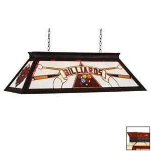 RAM Game Room Products 4-Light Billiard Pool Table Light Red