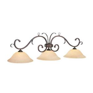 RAM Game Room Products Lunar 3-Light Traditional Kitchen Island Light With Shade