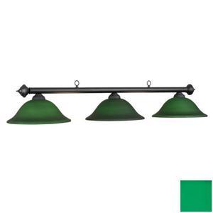 RAM Game Room Products 3-Light Marseilles Billiard Island Light Matte Black/Green