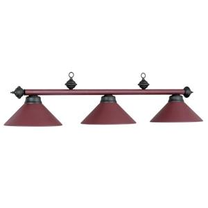 RAM Game Room Products 3-Light Billiards Table Island Light Matte Burgundy