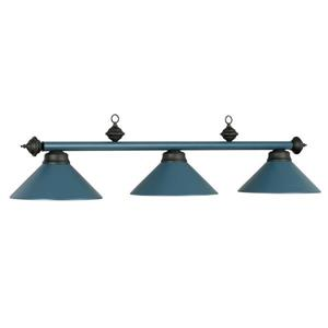 RAM Game Room Products 3-Light Billiards Table Island Light Matte Blue