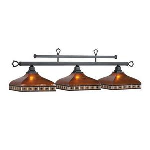 RAM Game Room Products 3-Light Tahoe Billiard Pool Table Light Bronze/Amber mica