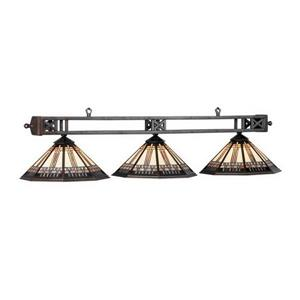 RAM Game Room Products 3-Light Winslow Billiard Pool Table Light Bronze