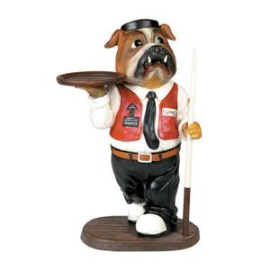 RAM Game Room Products 13-in x1.45-ft x 27-in Painted Interior Waiter Statue Accent