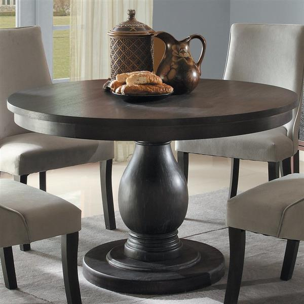 Hometrend Dandelion Distressed Taupe, Round Pub Table Canada