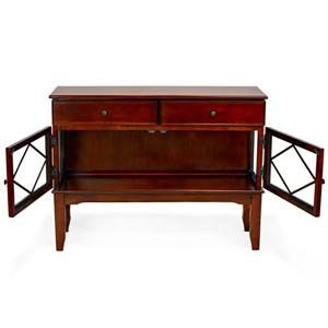 All Things Cedar Classic Accent 40-in Cherry and Brown Wood Buffet Console Table