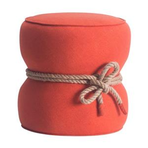 Zuo Modern Tubby Ottoman - 18.9-in x 18.5-in - Orange