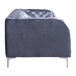 Zuo Modern Providence Sofa - 85-in x 36.5-in x 28-in - Grey Velvet