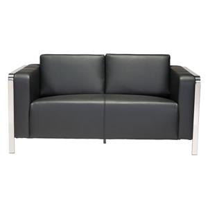 Zuo Modern Thor Sofa - 56-in x 34-in x 27-in - Faux Leather - Black