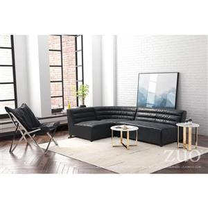 Zuo Modern Soho Loveseat - 55-in x 41.3-in x 29.1-in - Faux Leather - Black