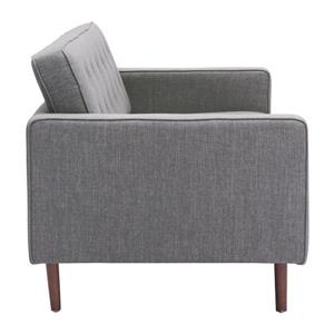 Zuo Modern Puget Sofa - 70-in x 32.7-in x 32.3-in - Cotton - Grey