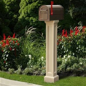 Mayne Accent 1-ft Beige In-Ground Bradford Mailbox