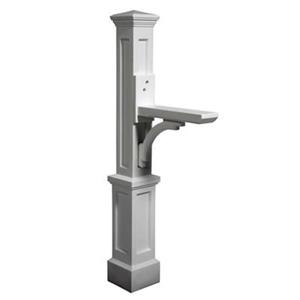 Mayne Accent 2.08-ft White Newport In-Ground Mailbox