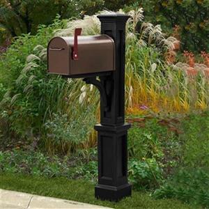 Mayne Amisco 2.08-ft Black Crosston Newport In-Ground Mailbox