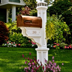 Mayne Executive 2.17-ft White Dover Mailbox Post