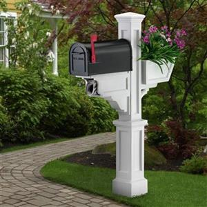 Mayne Executive 3.33-ft White Signature In-Ground Mailbox Post
